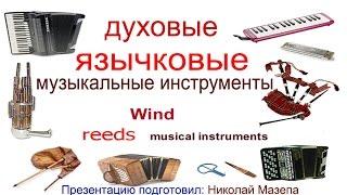 Духовые язычковые музыкальные инструменты