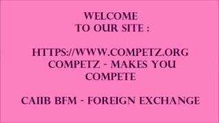 CAIIB BFM FOREIGN EXCHANGE FORWARD PURCHASE CONTRACT WITHOUT MARGIN