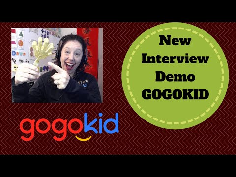 New GOGOKID Interview Live Demo Lesson / Step by Step/ Get Hired/ Ace your Interview Finger mountain