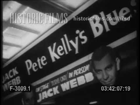 "JACK WEBB PROMOTES FILM ""PETE KELLY'S BLUES"""