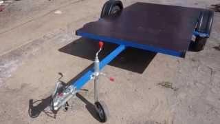 Прицеп площадка для жилого дома. Рамка на колесах. Производство БАГЕМ