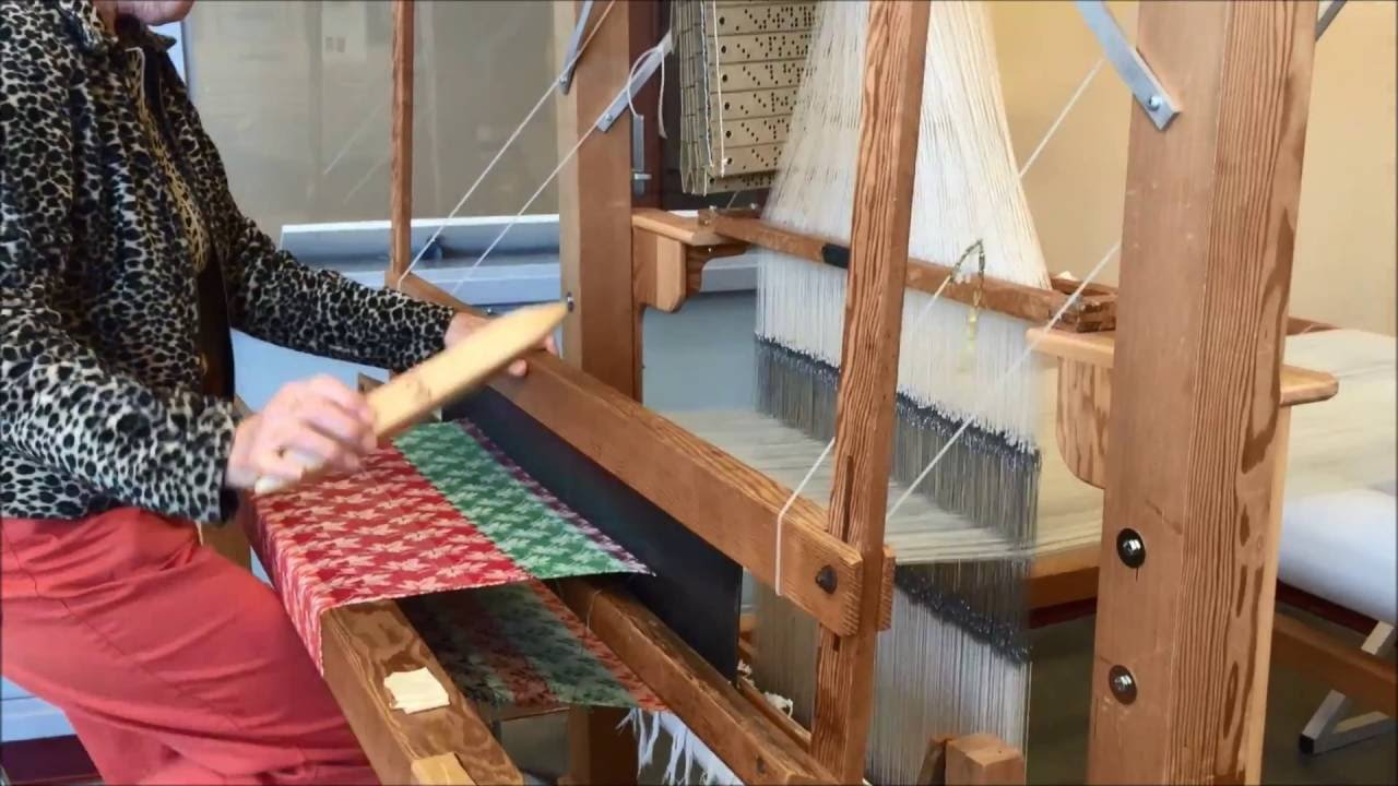 jacquard loom demo youtube