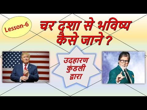 चर दशा से भविष्य कैसे जाने ? Char Dasha Analysis with EXAMPLES   Lesson-6   Jaimini Jyotish