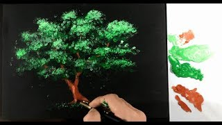 How To Draw A Tree With Acrylic Colour - DP Truong