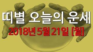 2018년5월21일(월요일) 띠별운세