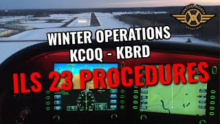Cirrus SR22 Winter Operations & ILS 23 IFR Set-Up and Procedure