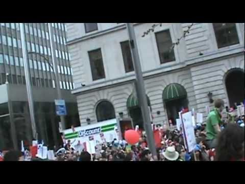 Students Protest Tuition Increases In Montreal, Quebec
