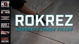 How to Use ROKREZ Concrete Crack Filler - DIY Shop & Garage Floor Coatings - Eastwood