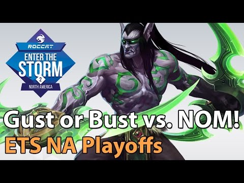 ► Heroes of the Storm Pro Gameplay: Gust or Bust vs. Team Nom - ETS NA Playoffs