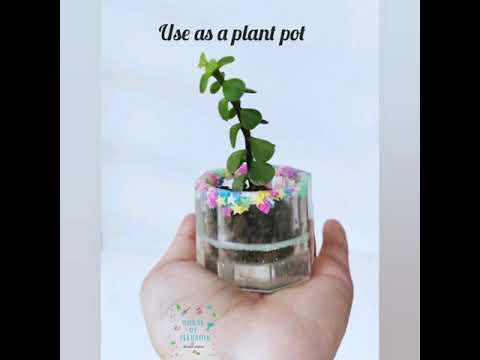 Resin Plant Pot/ Trinket Box : Mixing of resin, Resin for beginners, Layering of resin