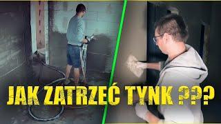 Zacieranie Tynku .Jak zrobić tynki tradycyjne maszynowe cementowo wapienne krok po kroku kat.II