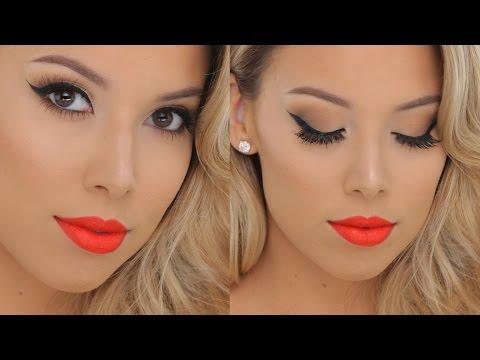 Classic Glamour + Hot Orange lips | Smashbox Tutorial thumbnail