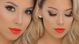 Classic Glamour + Hot Orange lips | Smashbox Tutorial