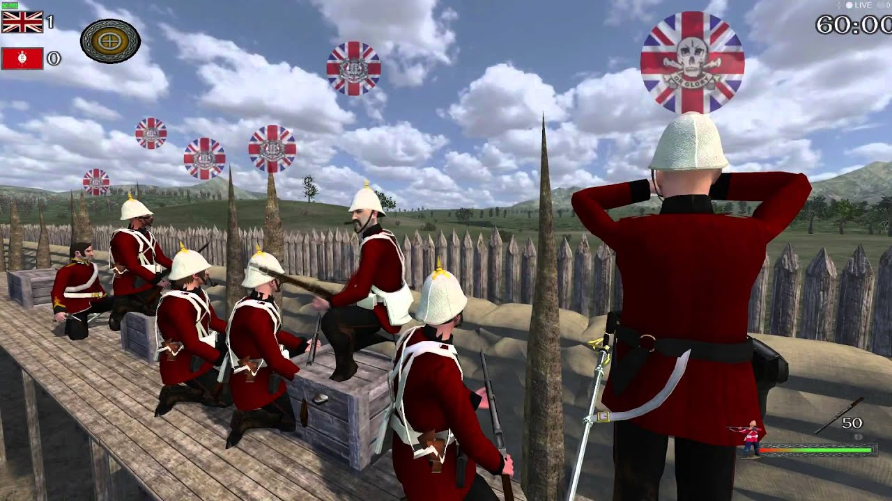 Mount And Blade Warband 1steb Anglo Zulu Mod Event Youtube