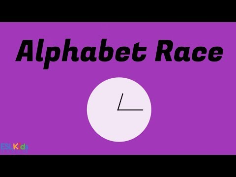 ESL Game Alphabet Race