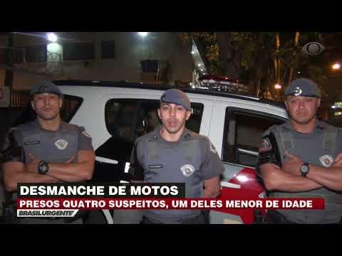 Suspeitos de desmanchar motos são presos