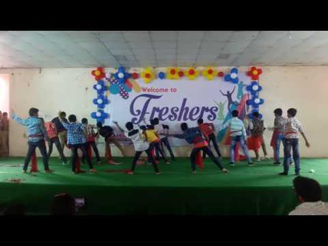 Bhashyam School VV Nagar branch freshers day 2017 Pawan Kalyan fans only Dance B