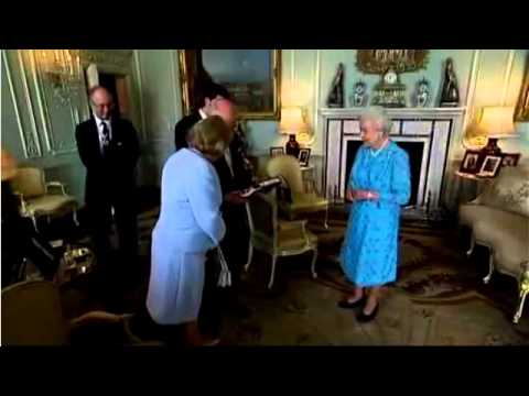 John Howard receives the Order of Merit from The Queen