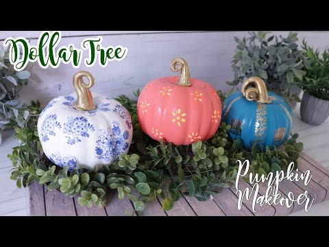 Dollar Tree DIY Pumpkin Makeover |Fall Decor