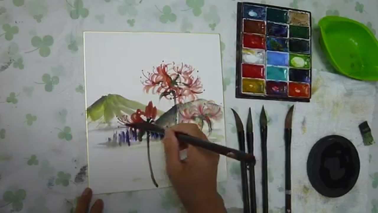 水墨画sumi E彼岸花の描き方動画 Youtube