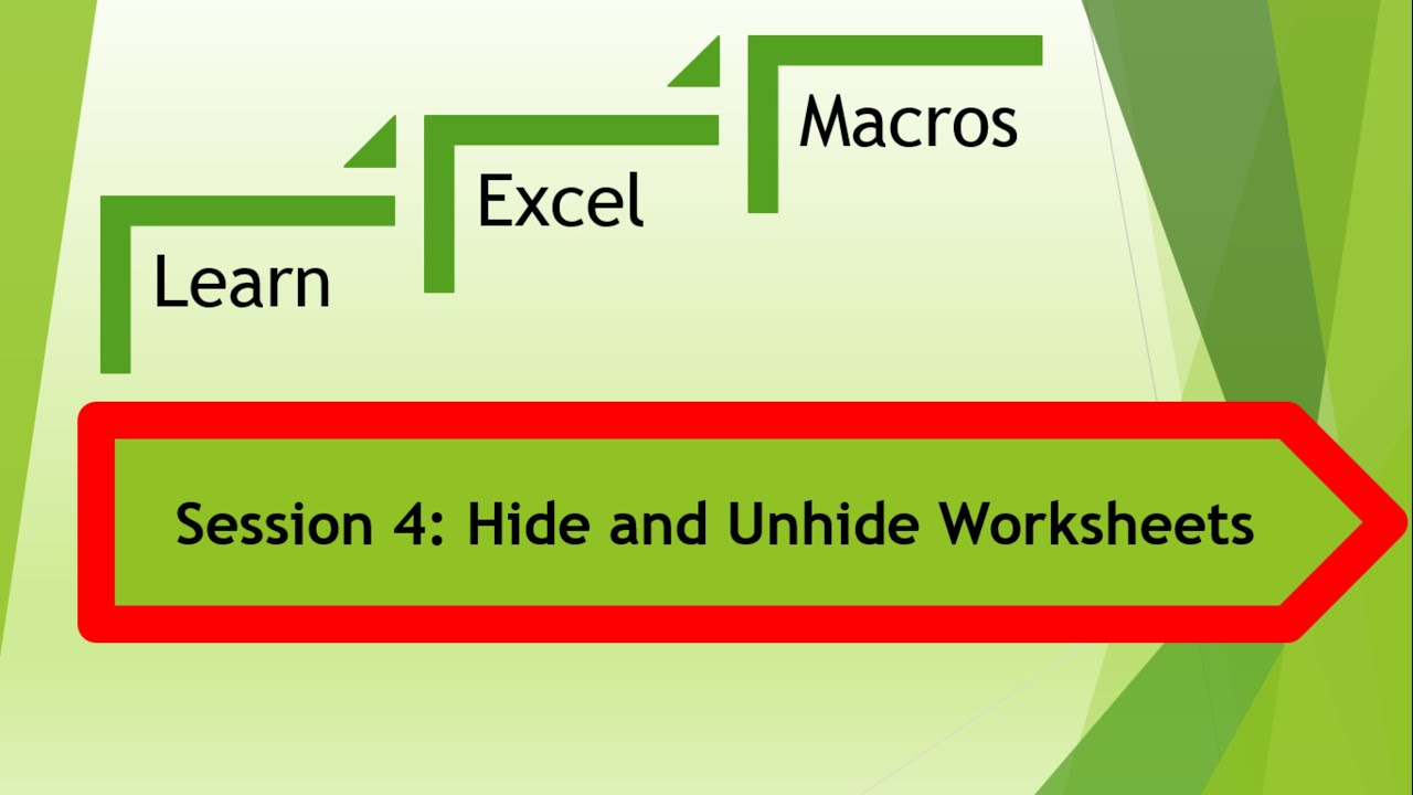 worksheet Excel Vba Hide Worksheet excel macro vba to hide and unhide worksheetsvb script youtube