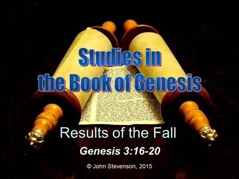 Genesis 3:16-20.  Results of the Fall.