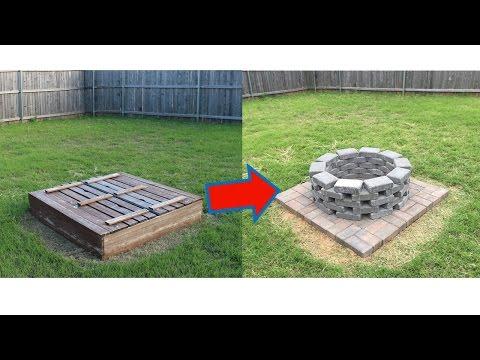 Homemade Brick Fire Pit