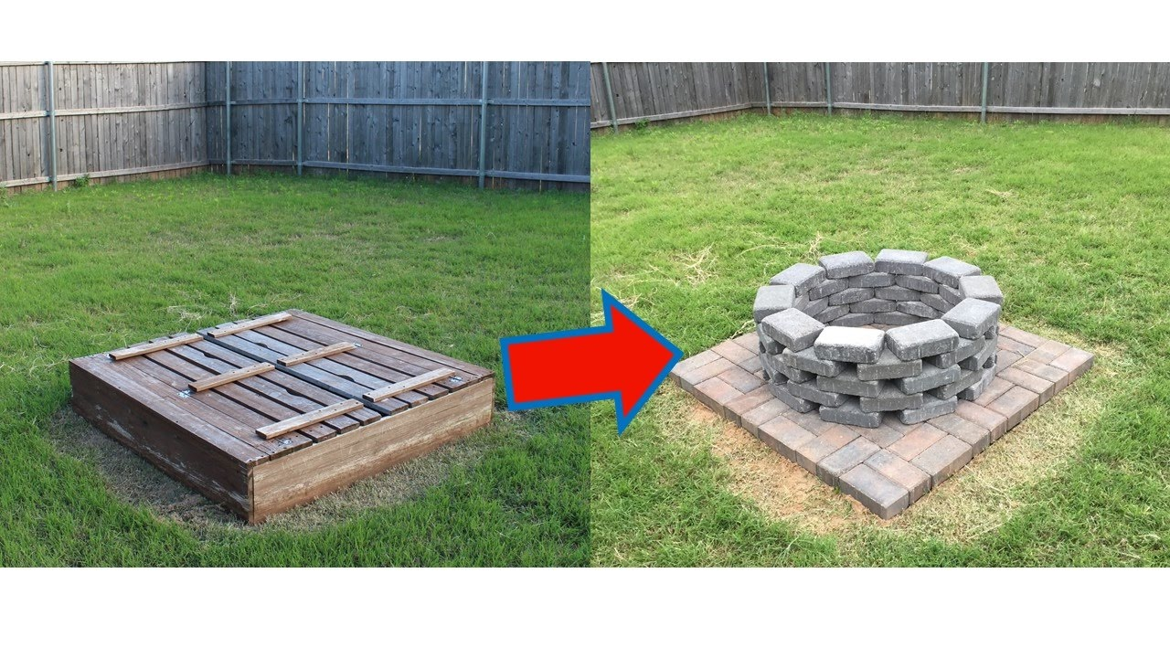 Homemade Brick Fire Pit Youtube