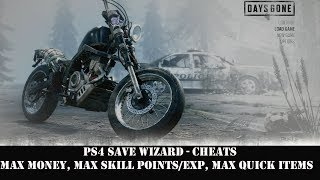 [PS4] Days Gone - Max Money, Max Skill Points/EXP, Max Quick Items | PS4 Save Wizard