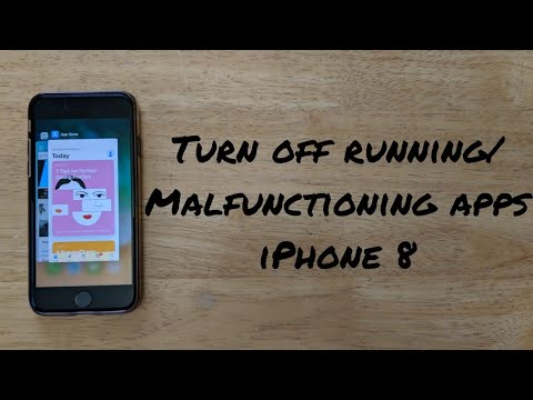 How to turn off running apps iPhone 8 / 8 plus