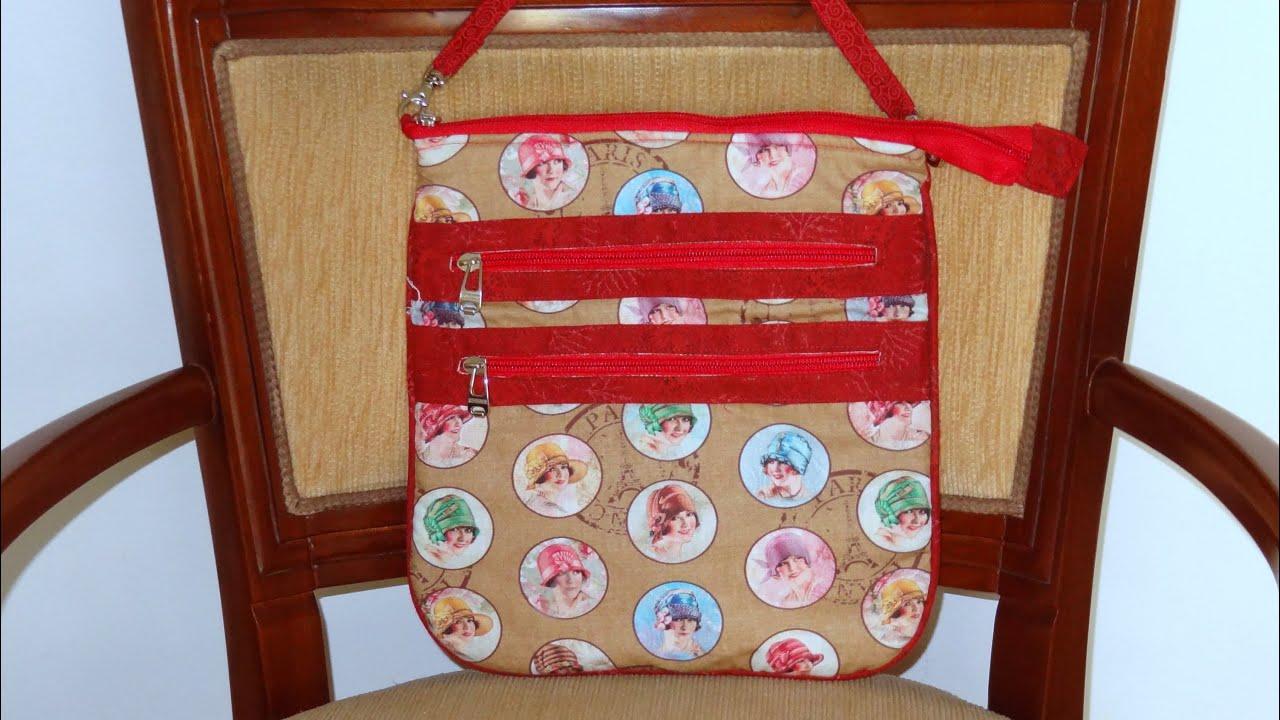 Bolsa De Tecido Tiracolo Passo A Passo : Bolsa de tecido das mo?as how to sew a fabric bag diy