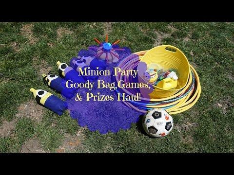 Minion Goody Bag, Games & Prizes Haul!