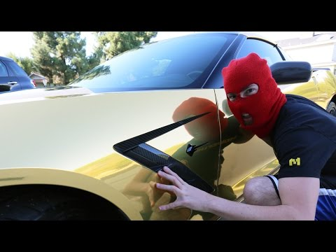 "STOLEN CAR PRANK! ""Gold Corvette"""