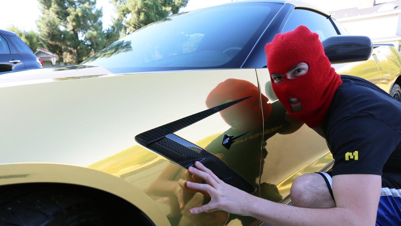 STOLEN CAR PRANK Gold Corvette YouTube - Stolen car
