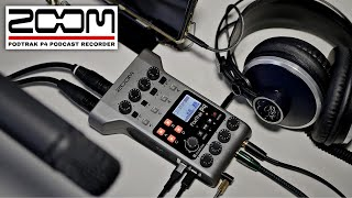 Zoom PodTrak P4 Podcast Recorder / Multichannel Broadcast Mini Mixer Review