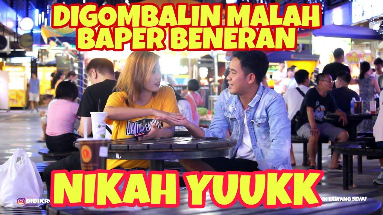 CEWEK CANTIK DI GOMBALIN MALAH BAPER BENERAN - DIDIK LAWANG SEWU