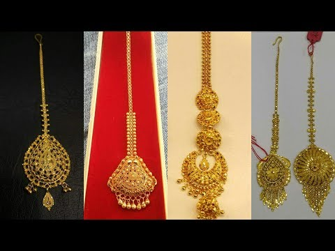 Light Weight Gold Maang Tikka Designs