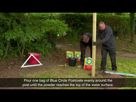 How to use Postcrete - Blue Circle Cement
