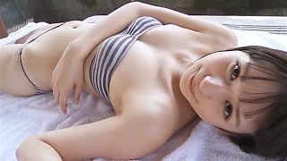 Ai Yamagami 山上愛 6 - Gray Stripes Tube Top Bikini.