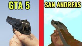 Video GTA 5 vs GTA San Andreas Gun Sounds download MP3, 3GP, MP4, WEBM, AVI, FLV Februari 2018