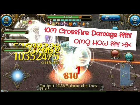 10M Cross Fire Damage Show Off! How to do 10M Damage with Cross Fire!? 10X Damage Hax - Toram Online