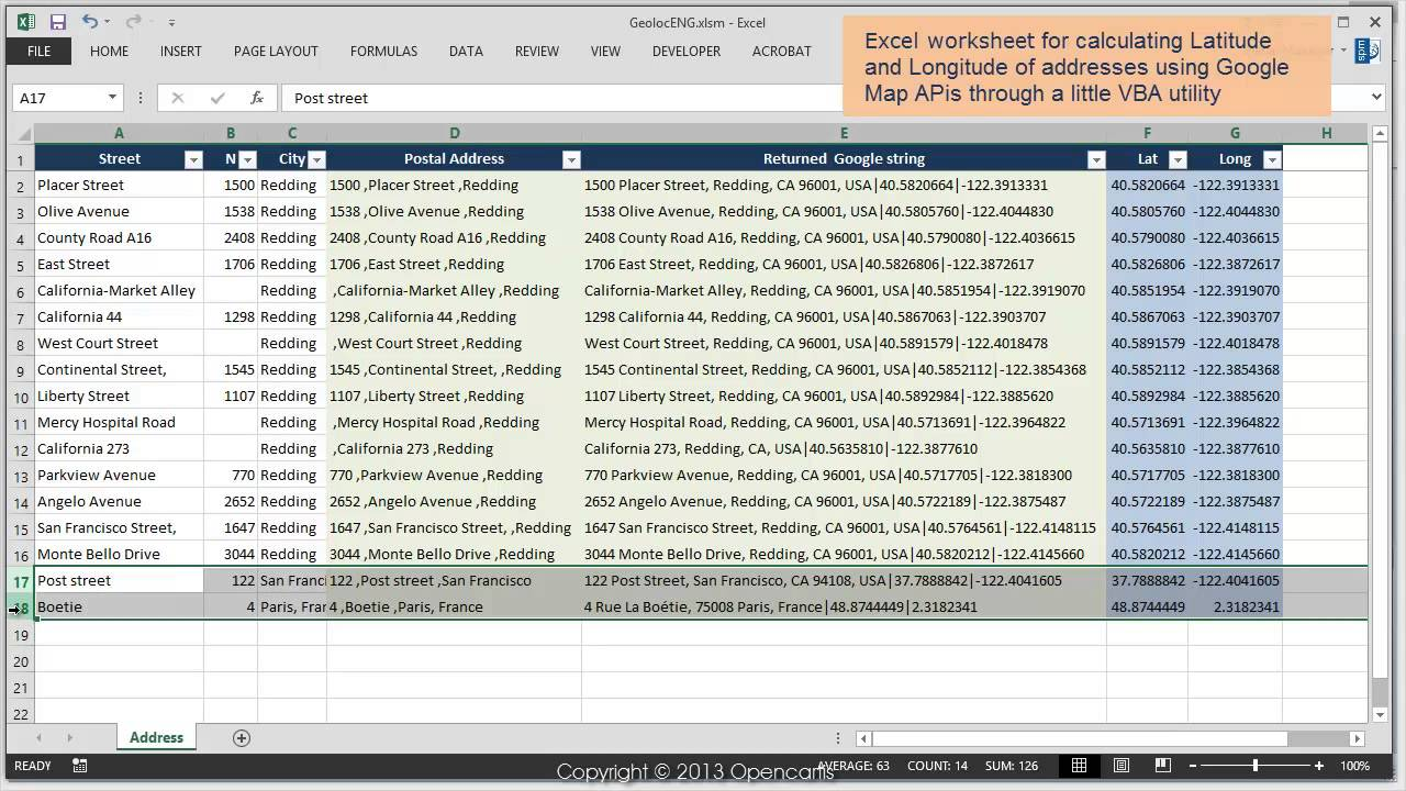 Geolocation Of Addresses Using Google Map APIs Spatial Manager - Show google map using latitude and longitude javascript