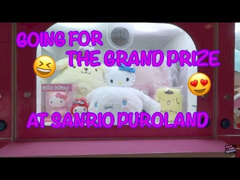 GOING FOR THE GRAND PRIZE AT SANRIO PUROLAND