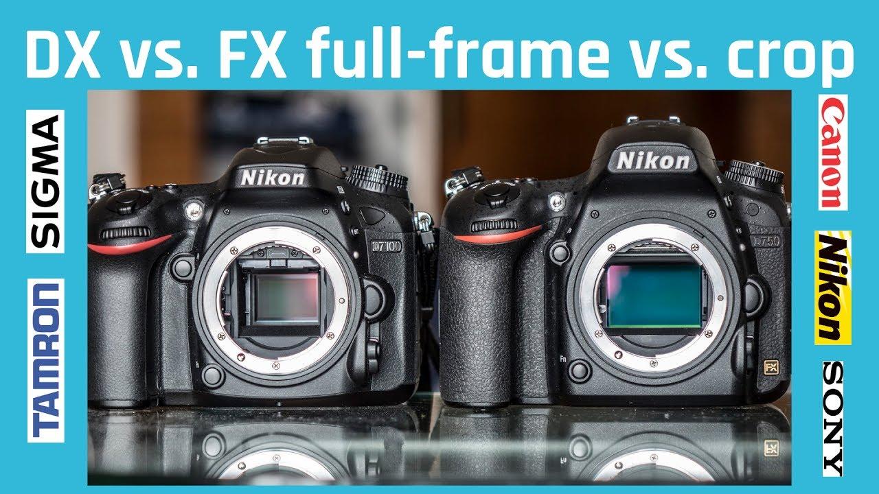 Full frame APS-C Crop sensor DX FX DSLR MILC Nikon Canon SONY ...