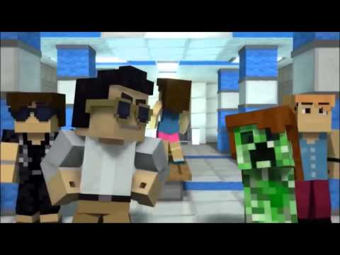 Minecraft Style - A Parody of PSY's Gangnam Style (Music Video) (Reupload) 10 Minute Version HD