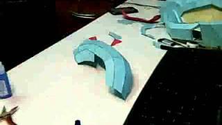 halo JFO helmet papercraft build