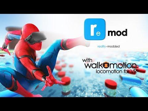 ReMod Sandbox - GMOD in VR - Spidey style Rope Swinging! - Walk-O-Motion