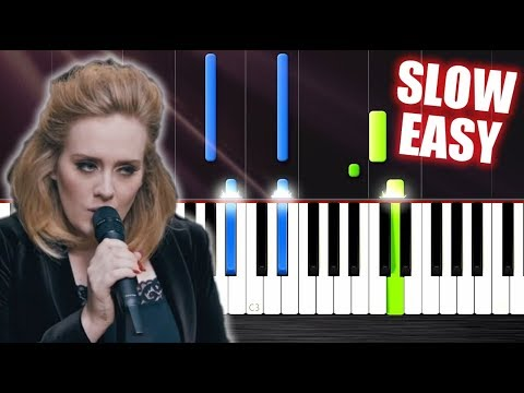 Adele  When We Were Young  SLOW EASY Piano Tutorial  PlutaX
