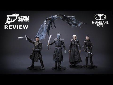 Game Of Thrones Jon Snow, Daenerys Targaryen, Arya Stark, Night King, Viserion Action Figure Review