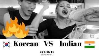 Korean VS Indian spicy chip challenge | #VLOG14